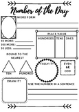 FREE Number of the Day Worksheet (Primary)
