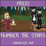 FREE Number the Stars Character Map Worksheet