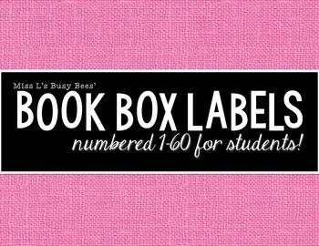 FREE Numbered Book Box Labels For Students 1-60