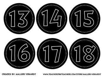 FREE Numbered Circle Labels