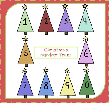 FREE Numbers Clipart / Christmas Number Trees Clipart {Number Clipart}