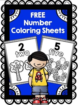 FREE Numbers Coloring Sheets