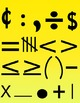 Math Numbers Clipart - Black and Blackline