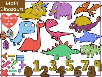 Math Dinosaurs (Digital Clip Art) FREEBIE!