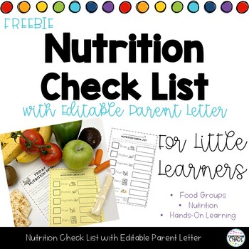FREE Nutrition Check List - National Nutrition Month