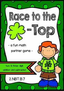 two and three digit addition and subtraction math game (wi