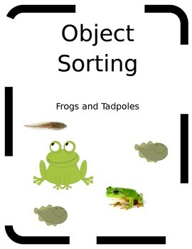 FREE Object Sorting Frogs and Tadpoles