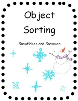 FREE Object Sorting Snowflakes and Snowmen