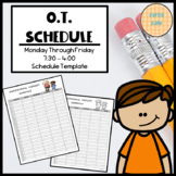 FREE Occupational Therapy Schedule