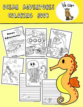 Ocean Adventures Coloring Book