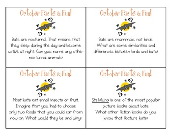 FREE October Facts & Fun Cards