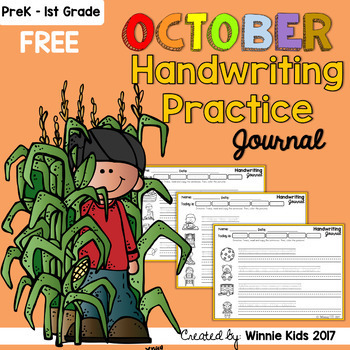 FREE October Handwriting Practice Journal