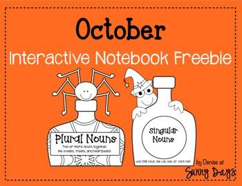 FREE October Interactive Notebook