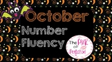 FREE October Number Fluency Practice: 0-10 PPT