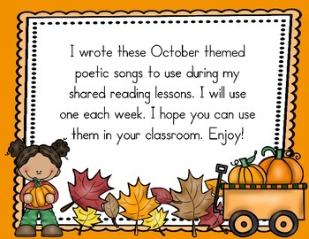 FREE October Songs or Poems for Shared Reading