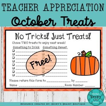 FREE! October Teacher Appreciation!