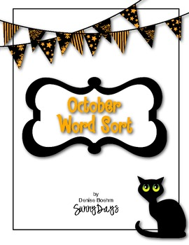 FREE October Word Sort