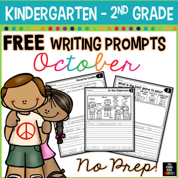 FREE October Writing Prompts for Kindergarten to Second Grade