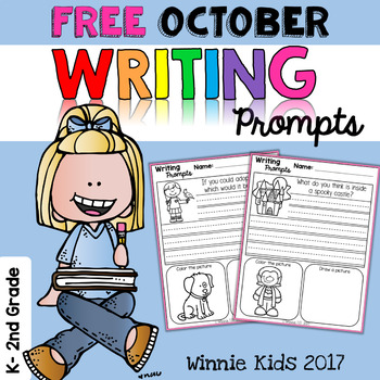 FREE October Writing and Picture Prompts