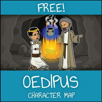 FREE Oedipus Rex Character Map Worksheet