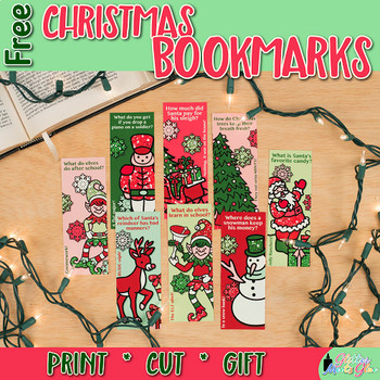 Free Christmas Riddle Bookmarks | Printables for Your Holiday Gifts
