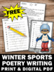 FREE Winter Poetry Writing, Acrostic Poem Template, Olympic Sports Theme