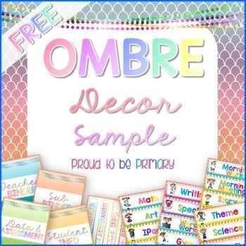 Classroom Decor OMBRE FREE