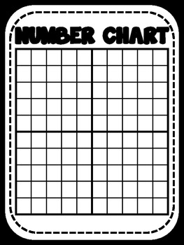 FREE One Hundred Number Chart