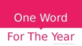 FREE! One Word for the Year 2019 PowerPoint with Examples