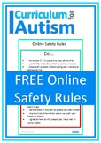 Online Safety Rules Poster Autism Special Education