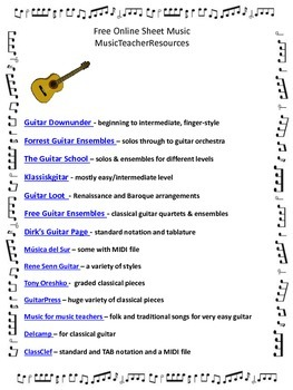 FREE Online Sheet Music Sites