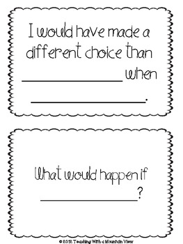 FREE Open Ended Question Cards for Higher Level Thinking and Novel Comprehension