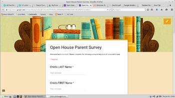 FREE Open House Parent Survey Google Form