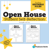 Open House Student Self-Reflection Sheet Letter to Parents // Editable & No-Prep