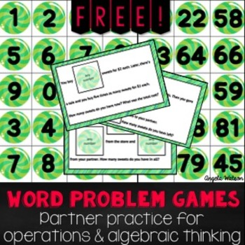 FREE Word Problem Game for Operations and Algebraic Thinking