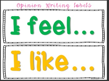 FREE Opinion Writing Anchor Chart Labels!