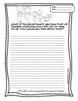 FREE Opinion Writing Prompts