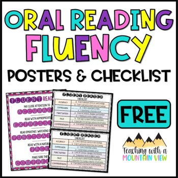 *FREE* Oral Reading Fluency Posters and Fluent Reader Checklist