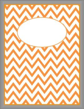 FREE Orange and Nickel Chevron Binder Cover