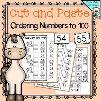 Ordering Numbers to 100 - Order to One Hundred (Cut and Paste) Worksheets