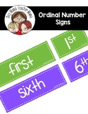 FREE Ordinal Number Signs for the Classroom
