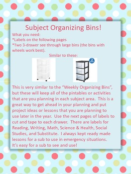 FREE - Organize Your Files - 2 Great Ideas With Fun and Cute Printable Labels