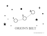 FREE Orion's Belt Constellation Dot-to-Dot
