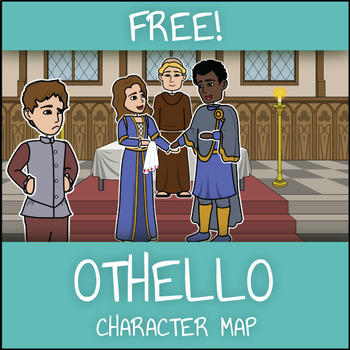 FREE Othello Character Map Worksheet