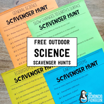 FREE Outdoor Science Scavenger Hunts Distance Learning