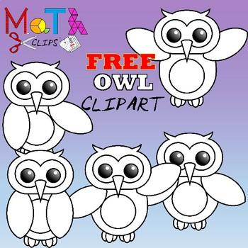 Free Owl Clipart By Math Clips Teachers Pay Teachers