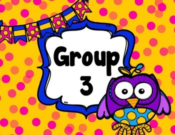 FREE Owl Group and Table Signs