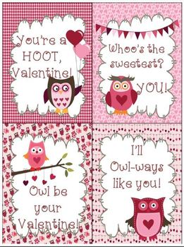 FREE Owl Valentine's Day Cards