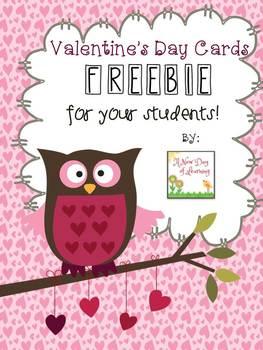 FREE Owl Valentine's Day Cards