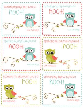 FREE Owl Valentines for Teachers